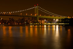 Our Efforts and Our Hopes - in explore (SunnyDazzled) Tags: longexposure bridge newyork reflections gold lights franklin golden president roosevelt queens citylights speech astoriapark triboro triborough robertfkennedy thegalaxy takenin3layers