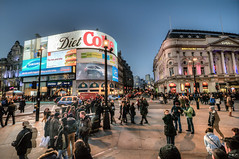Picadilly Circus (cuellar) Tags: city england people urban london night lights cityscape nightshot unitedkingdom piccadilly urbanlights cuellar2012top20
