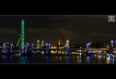 Westminster at Night (JoshJackson84) Tags: city uk england london westminster night lights europe cities londoneye longexpsoure canon60d sigma18250mm