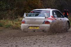 Mitsubishi Evo at the Malton Forest Rally 2012 (Chris McLoughlin) Tags: mitsubishievo michaelwilkinson stephenpetch chrismcloughlin slta77