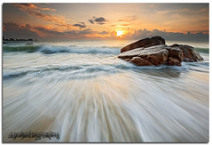 --Desire-- (Lim Su Seng) Tags: sky cloud seascape beach water rock sunrise canon landscape sand wave malaysia slowshutter kuantan pahang waterscape telukcempedak singleexposure canonef1635 rgnd 5dmk3 ssphotography limsuseng hitechrgnd06 rgnd06