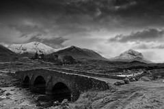 Sligachan Bridge (Digit@l Exposure) Tags: bridge vacation mountains skye scotland western isle isles redhills