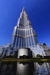 Burj Khalifa - Dubai (Jenamnatam) Tags: blue building skyscraper nikon dubai skyscrapers uae middleeast engineering explore arabia burjdubai burjkhalifa