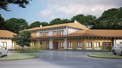Projekt hospicjum stacjonarnego w Pile #3 (dokadniejsza wizualizacja z wrzenia 2012) (Towarzystwo Pomocy Chorym w Pile) Tags: projekt andrzej pracownia hospicjum pia paag architektoniczna pilskie gierlikowski