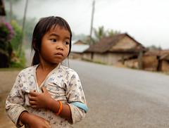 Hmong Girl (Trouvaille Blue) Tags: road travel mountain girl asia southeastasia laos lao luangprabang hmong indochina trouvailleblue mygearandme