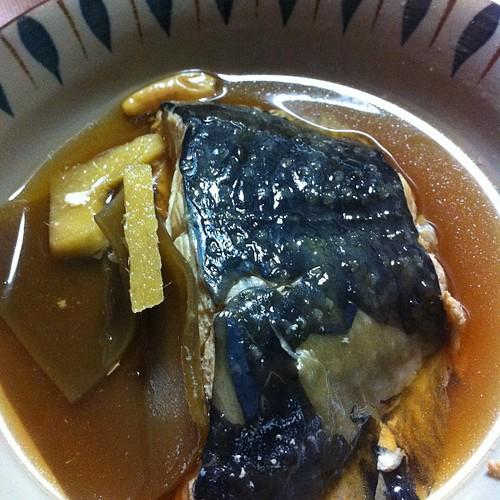 ヒラメの煮付け #dinner
