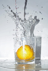 Splash! (LukeHennessy) Tags: motion water glass fruit lemon nikon slow splash d7000