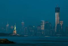 Almost 3 Icons (ADW44) Tags: nyc longexposure newyork skyline liberty twilight skyscrapers panoramic midtown bluehour metlife trade hdr gitzo thebigapple onebryantpark manhattanworld canon5dmarkii reallyrightstuffbh40 centeresbempire statestatue