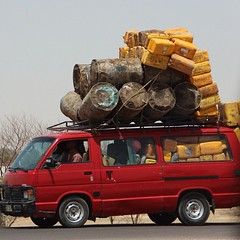 Tchad (tomstevens2010) Tags: africa afrique afrika chad ndjamena tchad transport truck car tsjaad heavy overloaded cans