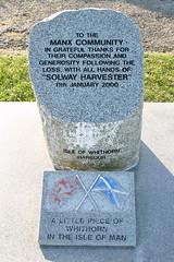 Solway Harvester, Whithorn stone (manxmaid2000) Tags: boat harbour compassion tragedy tribute douglas gratitude whithorn isleofman manx iom generosity fishingvessel lostatsea solwayharvester