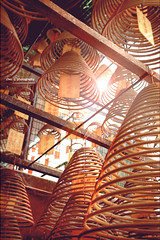 wishes in the air (Chez C.) Tags: light spiral temple pray praying chinese flare getty hanging tradition coil incense gettyimages