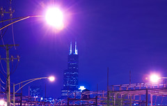 Goose Island View (andrewpabon) Tags: chicago night lights industrial searstower gooseisland