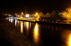 Belmullet Docks At Night (R.G.Photography) Tags: ireland light water port docks boat fishing mayo flowing erris belmullet redlection