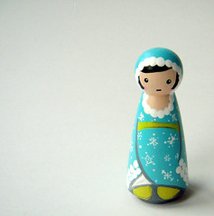 snow bunny kokeshi (Protean Crafts) Tags: wood blue people holiday snow cute bunny art girl painting toy japanese miniature wooden aqua doll paint folkart handmade folk teal unique ooak decorative small waldorf decoration craft gift childrens handcrafted lime stocking etsy artdoll decor peg kokeshi stockingstuffer stuffer pegdoll protean