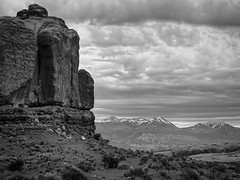 Arches National Park 2, Utah (tacoma290) Tags: vacation sky blackandwhite bw mountains rock utah ut sony dramatic arches archesnationalpark formations archesnationalpark2