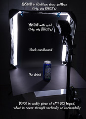 Long Drink - Setup shot (Ilkka Hakamäki) Tags: lighting 35mm nikon long shot drink flash blueberry otto setup nikkor product strobe mustikka 18g strobist lonkero yongnuo yn460ii d3100 yn560ii
