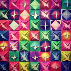 (Jeff Belmonte) Tags: art paper square diy origami colorful quadro squareformat papel colorido iphoneography instagramapp xproii uploaded:by=instagram