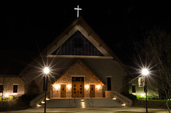 30 Seconds (Maggggie) Tags: longexposure church lights flares 52for2012