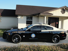 Florida Highway Patrol Dodge Charger (Staff@SCPoliceCruisers.com) Tags: 3 trooper black car code highway state florida wheels cop vehicle dodge patrol charger javelin lightbar fhp 2013