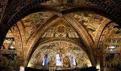 Frescoes in Lower Basilica of St. Francis of Assisi, Italy (Sir Francis Canker Photography ) Tags: sanfrancisco italien blue light sunset italy art heritage tourism luz church colors rose architecture bells wonder twilight arquitectura perfect europe long exposure italia european order arte cross symbol dusk basilica religion gothic culture iglesia nopeople landmark icon tourist medieval belltower unesco chiesa campanile bluehour catholicism romanesque medievale architettura assisi italie gem perfection umbria parvis touristic romanico franciscan gotico asis sanfrancesco rosewindow christianism roseton nikon5100 pacocabezalopez sirfranciscanker franoisdassise