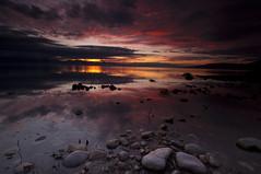 Dark before the Light_DSC1685 (antelope reflection) Tags: reflection colors clouds sunrise antelopeisland greatsaltlake utahstatepark nikond90 tamron1024