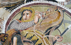Alexander Mosaic, detail with Soldier and Horse