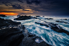The Angry Sea (eggysayoga) Tags: sunset sea bali motion beach water rock indonesia nikon dusk hard wave tokina filter 09 lee nd pantai hightide graduated gnd 1116mm d7000 mengening