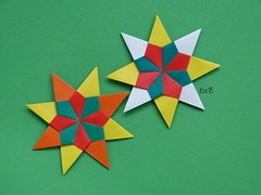 Stern Nadja 2012 by Carmen Sprung (esli24) Tags: christmas xmas paperfolding weihnachtsstern origamistar christmasstar papierfalten carmensprung origamistern esli24 ilsez sternnadja2012 starnadja2012