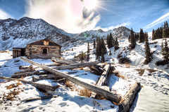62/366 - Mayflower Gulch Cabin (Brian.Buckler) Tags: county winter mountain snow mountains fall project cabin ruins colorado hiking path brian logs hike trail adobe co summit 365 range frisco mayflower gulch 366 buckler 11k