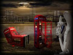 'LONDON CALLING!' {with hidden Ethyl & hidden Fiend!} (Cheyberpunk!) Tags: november red sky paris france london strange thames river dark dead skull weird punk gloomy phone box 4 gothic towers surreal gargoyle hidden odd wharf blocks boxes notre dame fulham bizarre fiend comical londoncalling 2012 mii theclash ethyl lefthandpath cheyberpunk high~rise