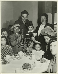 Hanukkah party, Jewish Gemeinde, Munich, Germany (Center for Jewish History, NYC) Tags: candles hanukkah menorah munichgermany jewishholidays hanukkahparty nationaljewishwelfareboardrecords nationaljewishwelfareboard jewishgemeinde