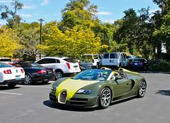 Bugatti Veyron Vitesse (Countach fan) Tags: green car yellow canon insane automobile fast convertible turbo german unusual expensive bugatti rare supercar w16 turbocharged veyron lightroom vitesse frenchcar fastcar exoticcar grandsport hypercar canont3