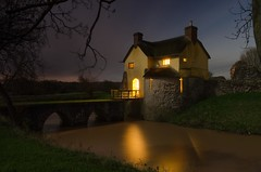 Stogursey Castle on a Moonit Eve (Bob Small photography.) Tags: uk longexposure england castle night britain somerset westcountry landmarktrust westsomerset stogursey stogurseycastle nikond7000