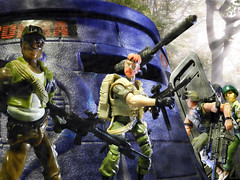 Storming the Bunker (Dudesnbots) Tags: 2 two rose one 1 cobra joe tyler bunker alpine outback agent helix squad grunt gi
