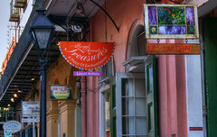 Signs (GMills31) Tags: signs neworleans cityscapes streetscene frenchquarter artdeco hdr cs6 photomatixpro topazlabs