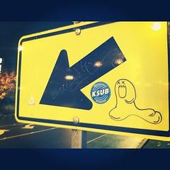 (croissantthief) Tags: seattle streetart graffiti stickerart graf stickers slap slaps slaptag seattlegraffiti stickerporn