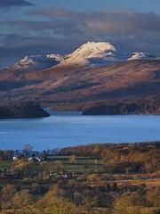 Ben Lomond (Christopher Swan) Tags: winter sunset snow water scotland nationalpark highlands lowlight lochlomond