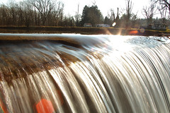 One of the Conowago Creek Dams. Located in East Berlin PA... (SevenSixx) Tags: one conowago creek dams located east berlin pa pennsylvania adams county scenery crystal clear water flowing gently waterfall sunlit sunlight beaming off surface reflecting slow fast shutter speeds long quick exposures timing dark light photos pictures vary colorful bubbles streaming falls gushing over spillway nice weather fall november day pretty gorgeous beautiful looking sight taken with canon camera 5d mark ii using 50mm 28135mm 75300mm lenses ~sevensix~