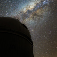 Anglo-Australian Telescope dome and the Milky Way (Jamie Gilbert) Tags: sky stars australia astro observatory telescope galaxy astrophotography astronomy milkyway aat aao angloaustraliantelescope sidingspring jamiegilbert australianastronomicalobservatory