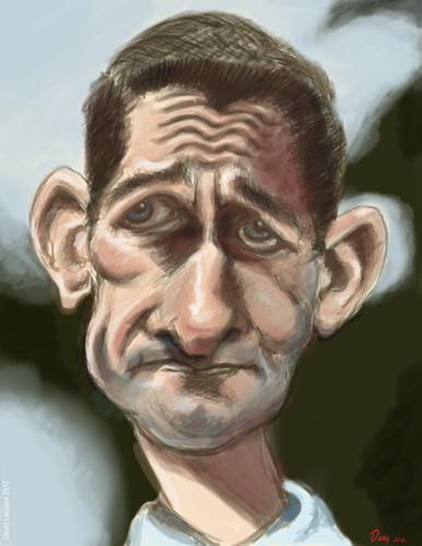 Paul Ryan - Digital Painting Caricature