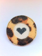 iphone paula 1027 (...Pauline...) Tags: diy crossstitch pin handmade brooch craft felt button embroidered cros