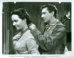 Richard Conte Margaret Field (1952) The Raiders (addie65) Tags: cowboy action 1950s western drama moviescene moviestill vintageclothes vintagedress hollywoodland classicactor vintagehair classicfilm classichollywood theraiders lavalier richardconte margaretfield universalinternational classicwesterns deceasedactor
