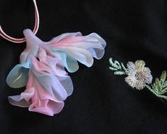 Fairy Breath Pendant (PatsParaphernalia) Tags: polymerclay translucent pendant fantasyflower