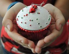 Navidad en manos de mi hija... (IvonneK) Tags: familia navidad rojo alegría