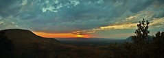 African sunset panorama (vR--Photography) Tags: africa sunset panorama orange sun game mountains nature clouds canon landscape colours stitch bright farm south vivid filter grad limpopo mountainous drastic mpumulanga