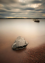 Trulsn II (- David Olsson -) Tags: longexposure sunset lake seascape beach reed nature water clouds landscape evening sand nikon rocks sundown cloudy sweden stones sigma august le 1020mm 1020 vnern 2012 dx vrmland ndfilter lakescape grums smoothwater 2exposures d5000 manualblend manuallyblended davidolsson nd500 lightcraftworkshop grumsfjorden trulsn