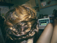 hair (pick your posies) Tags: me hair myself blonde brunette braid bobbypin
