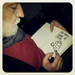 """Un regalazo de Emilio Urberuaga... mi libro de Manolito Gafotas dedicado y """"garabeteado"""". #cuentos2012"""