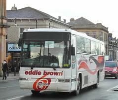 Eddie Brown, Plaxton Premiere 320. Volvo B10M. EAZ2574. Station Parade Harrogate. (Garrietta) Tags: station yorkshire north parade premiere harrogate plaxton eaz2574 eddiebrowncoaches volvodennis
