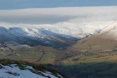 Barber Booth, Vale of Edale, from Mam Tor, Derbyshire (Kirkleyjohn) Tags: snow landscape derbyshire moorland pennineway brownknoll barberbooth valeofedale